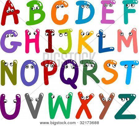 Alfabeto de mayúsculas Graciosos