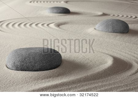 spiritual meditation zen garden concept for relaxation concentration harmony balance and simplicity holistic tao buddhism or spa treatment