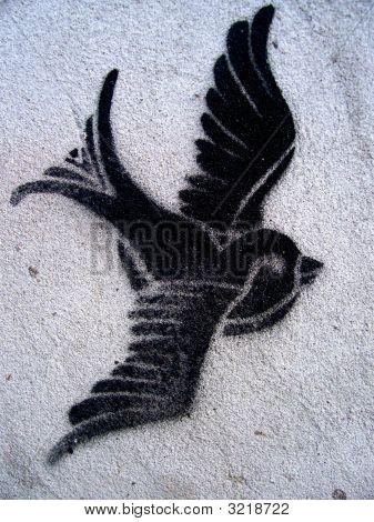 Dove Bird Grafitti Stencil