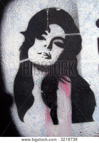 Sexy Woman Grafitti Stencil
