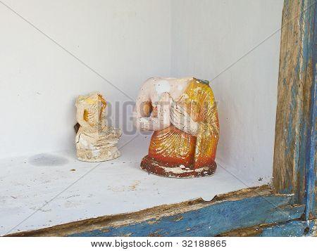 Religious Figure In Dagoba Ruwanweliseya