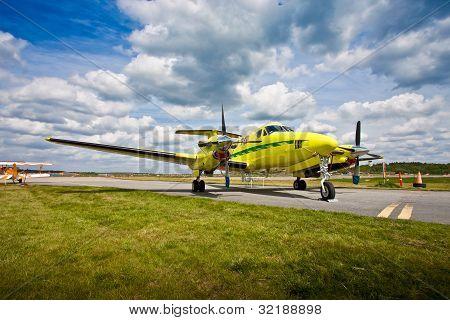 Small Aircraft On Runway