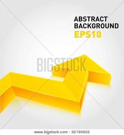 Vector glossy arrow background