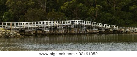Rustic White Wooden Bridge