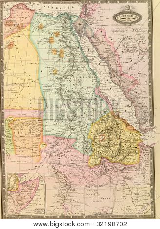 Antique Map Of Northeast Africa