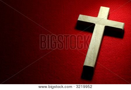 Crucifix On Red