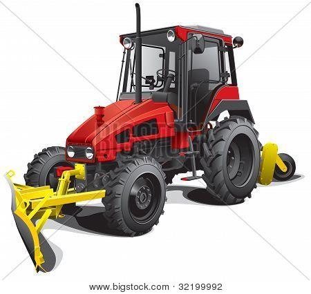 Snow Plow Tractor