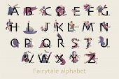 Set Of Fairytale Characters In Cartoon Style. Funny Characters And Animals, Monsters And Heroes Of F poster