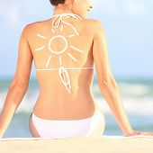 picture of sun tan lotion  - Sunscreen  - JPG