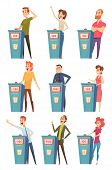 Quiz Tv Players. Entertainment Show Characters Podium Standing Answer Questions Television Contest S poster