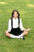 Meditation Practice. Good Vibes. Peaceful Meditation. Learn Meditation Techniques. Girl School Pupil poster