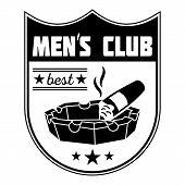 Best Men Club Logo. Simple Illustration Of Best Men Club Vector Logo For Web Design Isolated On Whit poster