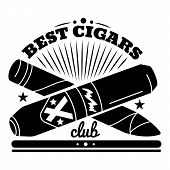 Best Cigars Club Logo. Simple Illustration Of Best Cigars Club Vector Logo For Web Design Isolated O poster