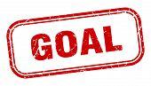 Goal Stamp. Goal Square Grunge Sign. Goal poster
