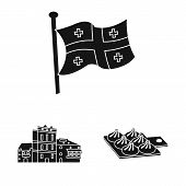 Vector Design Of Heritage And Originality Icon. Set Of Heritage And Traditions Stock Symbol For Web. poster