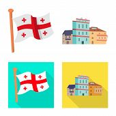 Vector Illustration Of Culture And Sightseeing Sign. Collection Of Culture And Originality Stock Sym poster