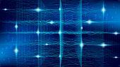 Big Data Cloud. Futuristic Technology Geometric. Tech Motion. Blue Business Banner. Big Data Social. poster