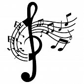 Funny Isolated Treble Clef With Music Note poster