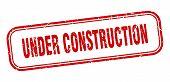 Under Construction Stamp. Under Construction Square Grunge Sign. Under Construction poster