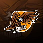Eagle Sport Mascot Logo Design With Text poster