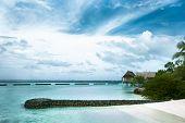 Beach, White Sand, A Lagoon. Beautiful Maldives poster