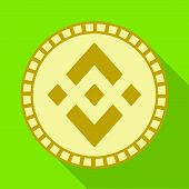 Vector Illustration Of Coin And Bit-coin Symbol. Set Of Coin And Bank Vector Icon For Stock. poster
