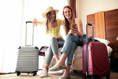 Sexy Traveling Girls And Their Luggage poster
