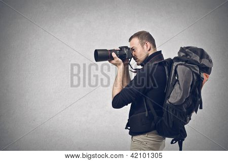 photographer with professional camera