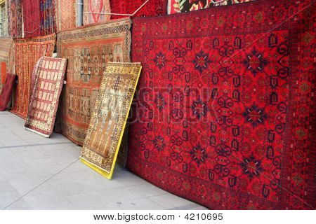 Rugs In A Turkish Carpet Shop.