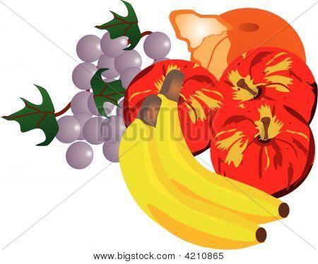 Fresh Fruits Illustration