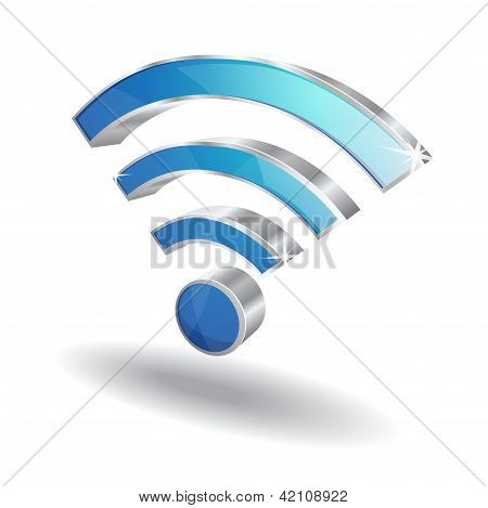 3d Wifi Signal Vector Icon