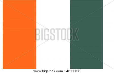 Cote D`Ivoire Flag