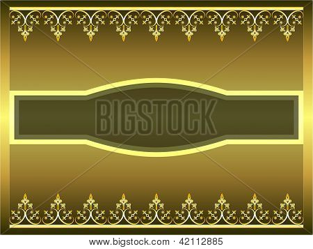 Golden ornamental frame