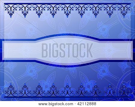 Blue ornamental bookcover