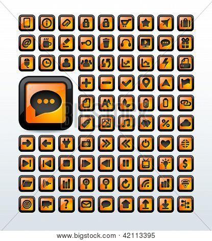 Web icons set vector illustration