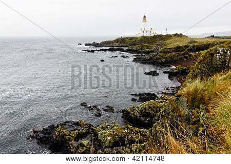 Turnberry lighthouse in Scotland, UK