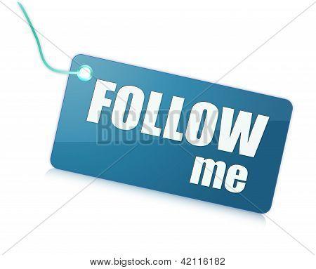 Follow me label