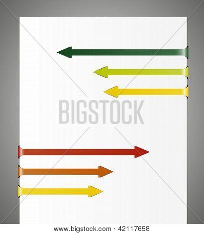 contrary folded arrows