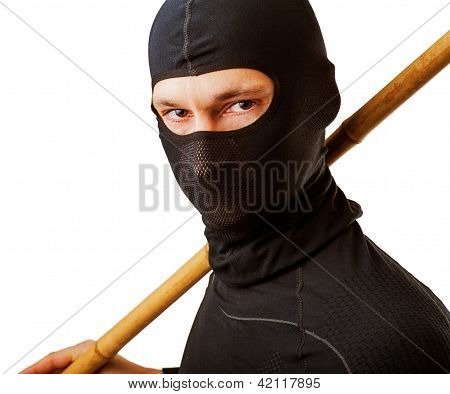 Ninja In Black Mask