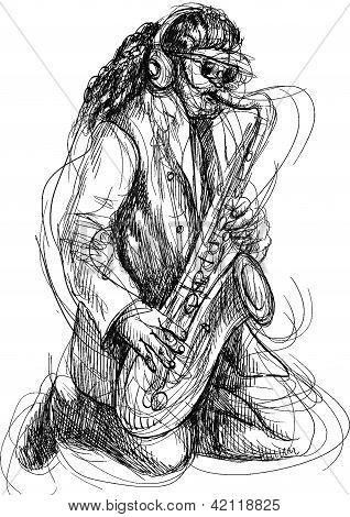 musician, sax player