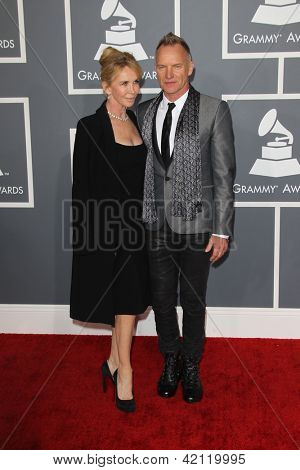 LOS ANGELES - FEB 10:  Trudi Styler, Sitng arrive at the 55th Annual Grammy Awards at the Staples Center on February 10, 2013 in Los Angeles, CA