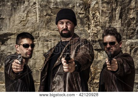 Gang Members With Guns