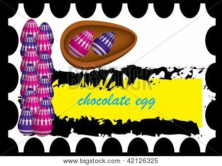 seal of chocolate eggs