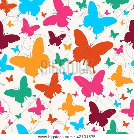 Spring Butterfly Pattern