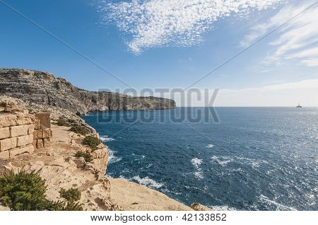The Dingli Cliffs In Malta