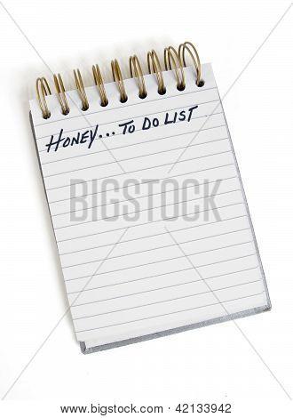 Honey...to Do List