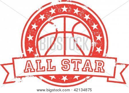Basquetebol All Star angustiado Vector