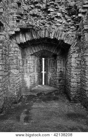 Ruined Medieval Castle Defensive Arrow Slit