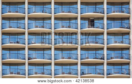 Pattern Of Hotel Room Balconies