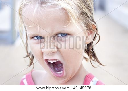 Child Making Funny Face